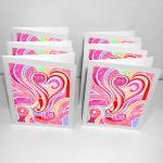 6 Blank Greeting Cards: Blo..